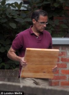 DIY: Mark Carney helped the removal men, doing coffee runs and hauling boxes