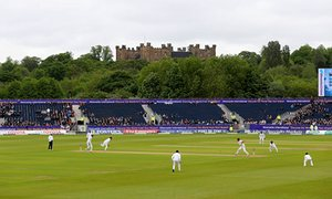 General view of England playing Sri Lanka at cricket